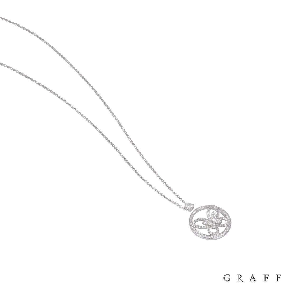 Graff White Gold Diamond Butterfly Pendant